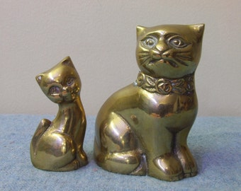 Brass Cats - Set of Two