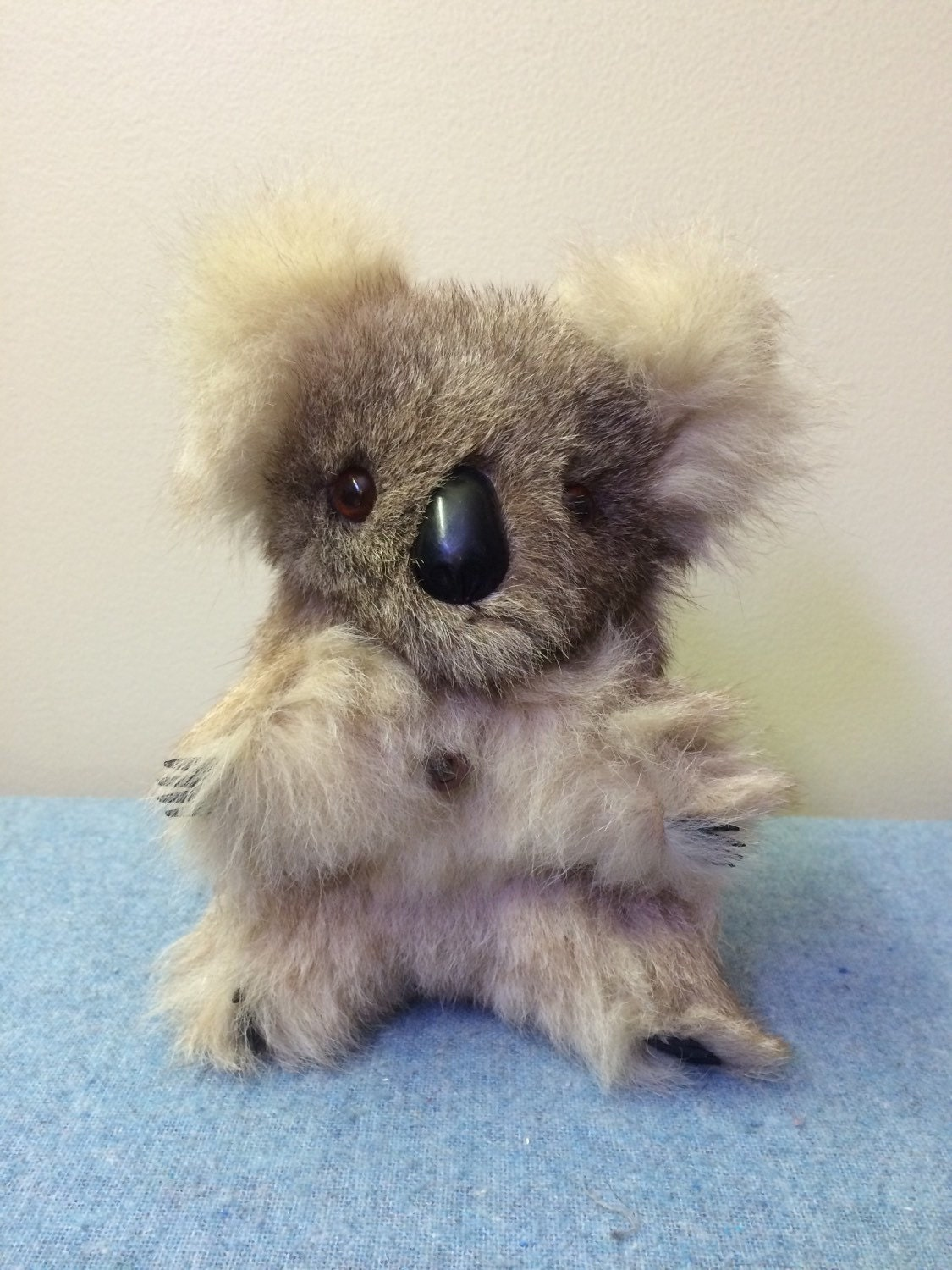 Real Koala Fur Bear Doll Australian Souvenir by TheOddOwl