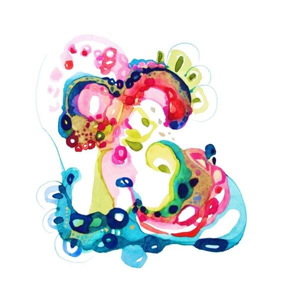 Floral Art Watercolor, Boho Art, Abstract Floral Painting, Romantic Art, Watercolor Paintings, Flower Painting, Watercolor Original