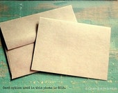 """A2 Folded Cards & Envelopes, Kraft Brown Cards, Kraft Note Cards and Envelopes, Eco Friendly, 4 1/4"""" x 5 1/2"""" (108 x 140mm), Set of 100"""