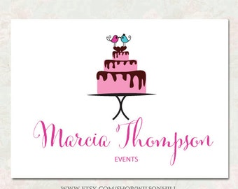 Premade Business Logo and Watermark - Boutique Logo Design - Bouquet Logo -  For ANY Business - Cake logo