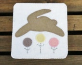 PDF Bunny Hop Wool Penny Rug Pattern Instant Download