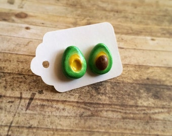 Avocado stud earrings.