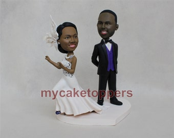 Custom Wedding Cake Toppers Made From Your Photo, Personalized Wedding Cake Toppers, Custom Cake Topper,lifelike cake topper unique gift