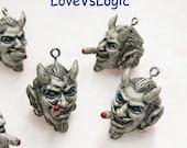 4 Devil Smoke Soft Charms.