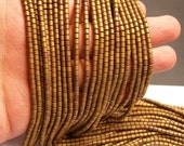 Hematite bronze matte  - 3x3mm tube beads - full strand - 132 beads - AA quality - PHG150