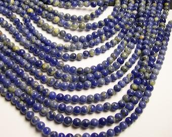 Sodalite - 6mm round beads -1 full strand - 68 beads - RFG13