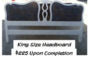 PAINT to ORDER King Headboard ~ ASCP ~ Local Pick Up San Diego