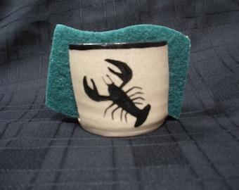 Kitchen Sponge Holder with Lobster
