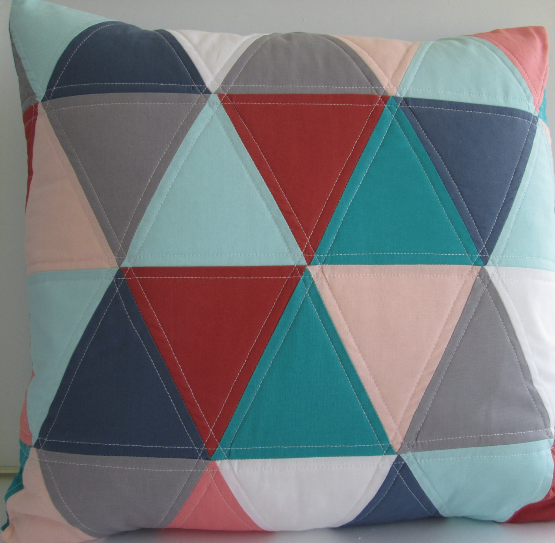 Triangle Toss Pillow Cover Modern Throw Pillow Cover