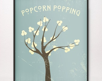 16x20 • Popcorn Popping • Art Print • Various Colors Available • LDS Mormon Apricot Tree