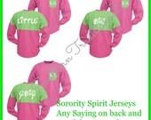 Custom Sorority Spirit Jersey - Big Little GBig Oversized Jersey - Custom Spirit Jersey