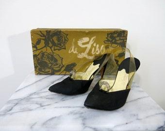 Vintage Pumps // Stanley Philipson // 7.5 Women // Diamond Studded // Vintage Shoe Box