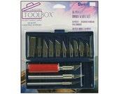 Darice Crafter's Toolbox Hobby Knife Set Craft Crafting Knives Blades Razors