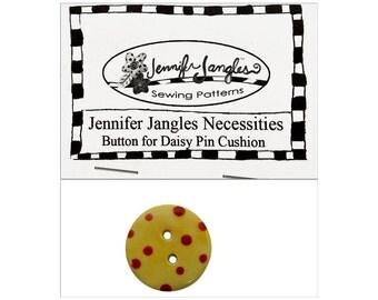 Jennifer Jangles Button Necessities Pack Daisy Pin Cushion Yellow Red Dots