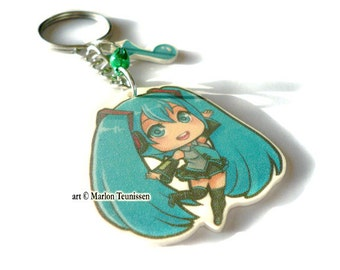 Vocaloid Miku Chibi Charm keychain