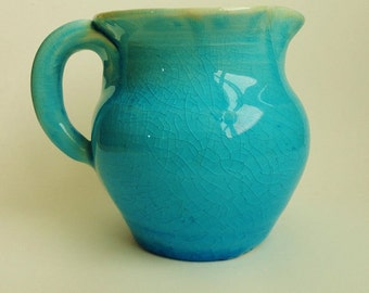 Art Pottery Antique Pitcher Turquoise Pottery Pisgah Pottery American Pottery Vintage Pottery Collectible Pottery Arden North Carolina