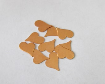 Tiny Copper Hearts- Premium copper - Tumbled hearts - Craft for Jewelry and crafts