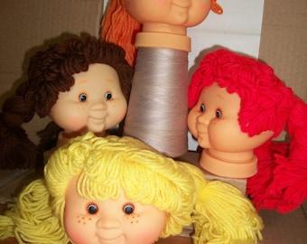 "Plastic Doll Head - ""Sweet Love Kids"" With Vintage FibreCraft Hands"