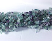 1 Full Strand Fluorite Chip Beads - full 36 inch strand Jewelry Making Supplies - Chip Bead Necklace