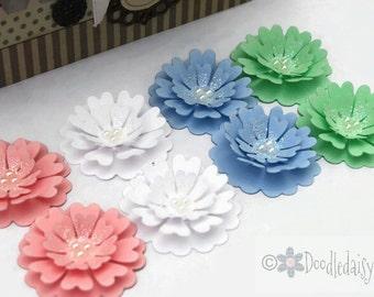 Large Pastel Flowers Wedding Embellishments scrapbooking cardmaking wedding