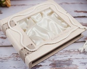 Wedding Stefana Case - Natural wood with ivory rope