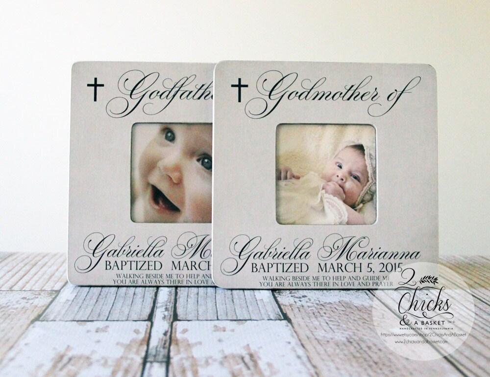 Baptism Gift For Godparents Christening Gift Godparents: Godparent Gift Personalized Baptism Picture Frame Set Of 2