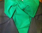 Cravat, In A Holly Green fabric or Ascot Mens Victorian Tie