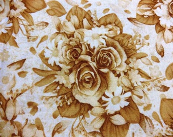 Sentimental Florals 100 Percent Cotton Fabric by RJR 2003 5 Full Yards