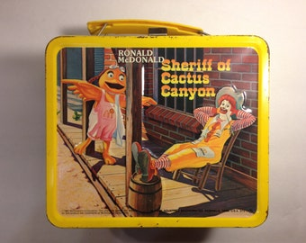 Vintage McDonalds Metal Lunchbox with Thermos