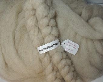 California Red sheep wool roving