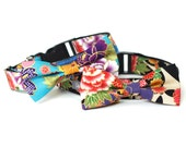 Kimono dog cat collar with bowtie for family photo, wedding and everyday run!