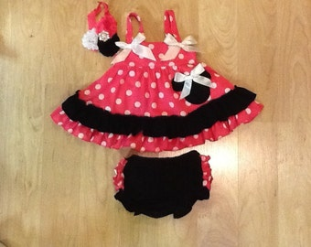 Minnie Mouse Sundress & Diaper Cover