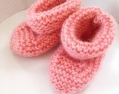 "Knit Booties ""Retro Rose"""