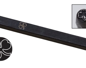 Shamrock Clover Metal Design Stamp-Eurotool-Elite Design Size- 5mm Metal Design Stamp-Metal Stamping Supplies Metal Supply Chick
