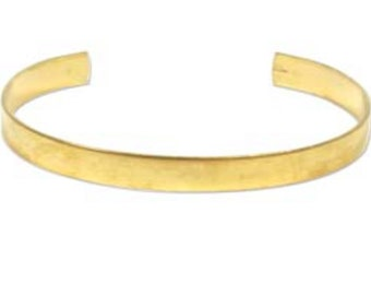Brass Cuff- BRASS Bracelet Cuff  1/4  inch wide each- FLAT Surface but comes formed