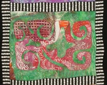 Handmade Art Quilt - Shades of Egypt