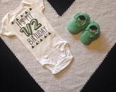Half Birthday Bodysuit Babies Half Birthday Shirt Birthday Shirt Photo Shoot Prop Babies 6 month Birthday Shirt Half Birthday Shirt Custom