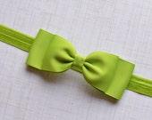 Apple Green Bow Headband/Green Bow Headband/ Apple Green Baby Headband/ Girls Hair Accessories/ Baby Hair Accessories/ baby headbands & bows