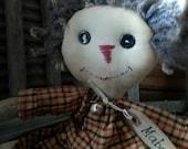 Primitive Folk Art  Rag Doll-FAAP