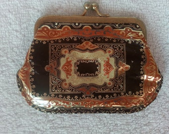 Vintage Gold Gilt and Leather Change Purse