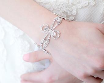 Bridal Bracelet - Czech Crystal Swirls