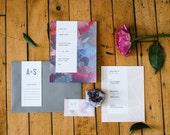 Painted Texture Wedding Invitation Suite