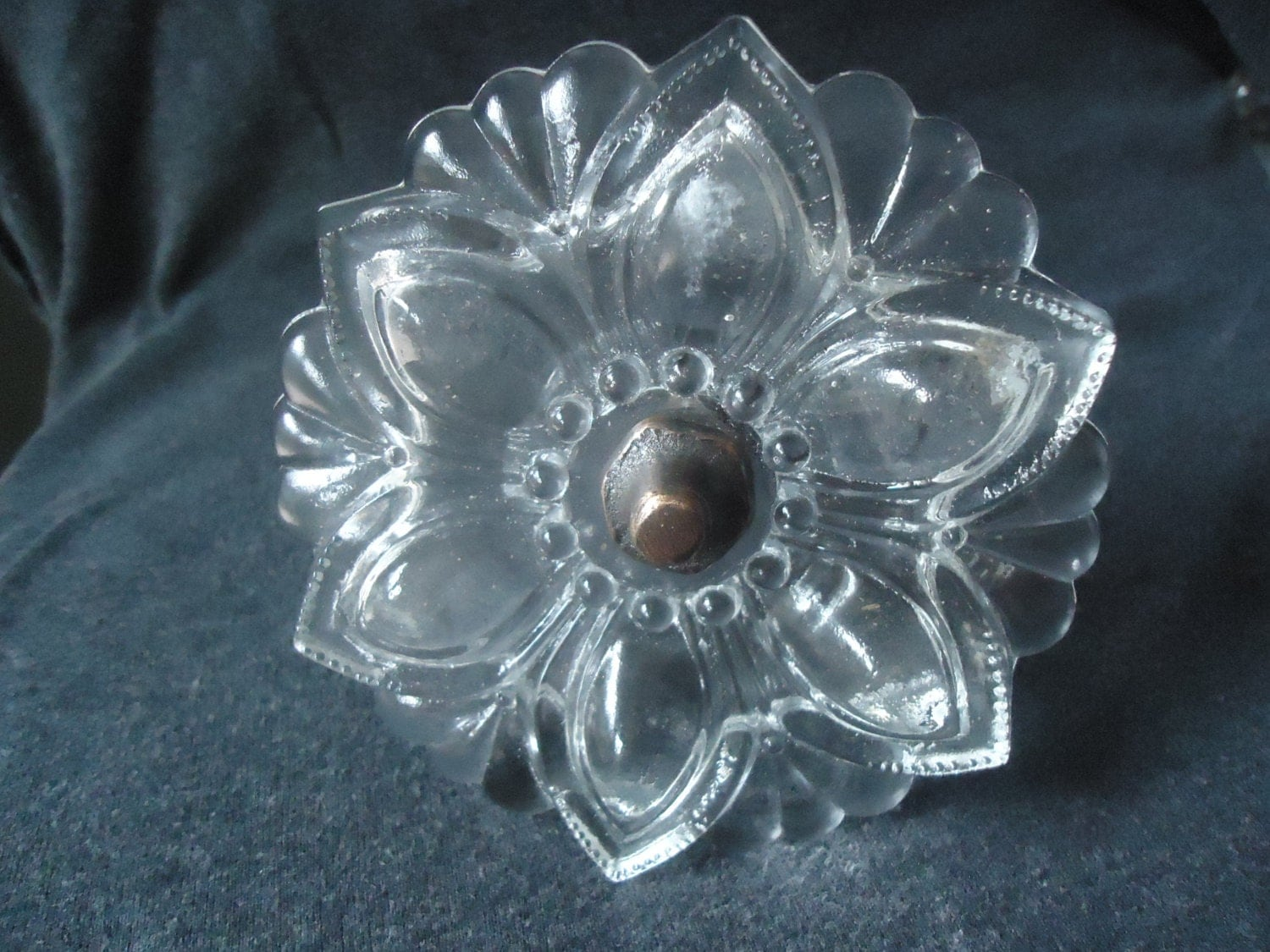 Vintage Clear Glass Curtain Tie Back