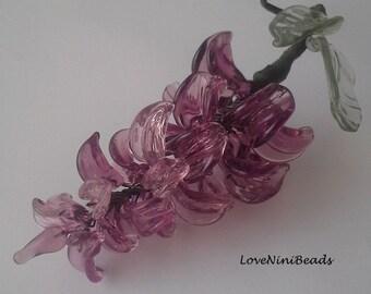Wisteria - Glass Wisteria Vine ~ Glass Flower Cluster