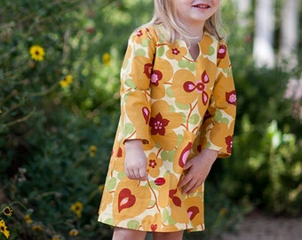 INSTANT DOWNLOAD- Sophia Tunic Dress (Sizes 12/18 months to 10) PDF Sewing Pattern and Tutorial
