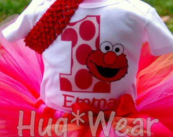 Personalized Birthday Elmo Top with any age  (Top only)