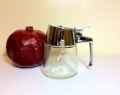 Vintage Sugar Dispenser Pitcher Dispenser Inc Chrome Diner Condiment Jar