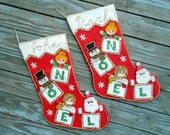 1950s Christmas Stockings, Sequins stockings Santa, Snowman stockings, snowflakes,