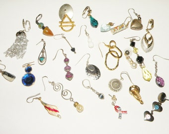 Destash Jewelry lot Single Earrings parts and pieces
